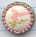 bleeding heart with leaves, beaded border, small